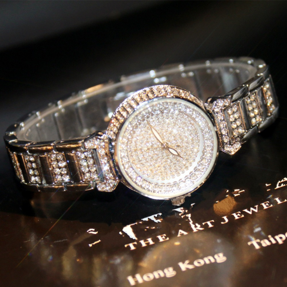 Women Stylish Famous Brand Full Diamond Luxury Women Watch Lady Dress Watch Rhinestone Bling Crystal Bangle Watches Female 2017 new arrivals famous brand full diamond luxury women watch lady dress watch rhinestone bling crystal bangle watches female