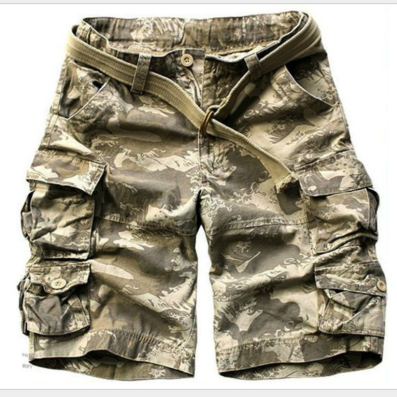 Mens Casual Camouflage Baggy Cargo Shorts Short Pants