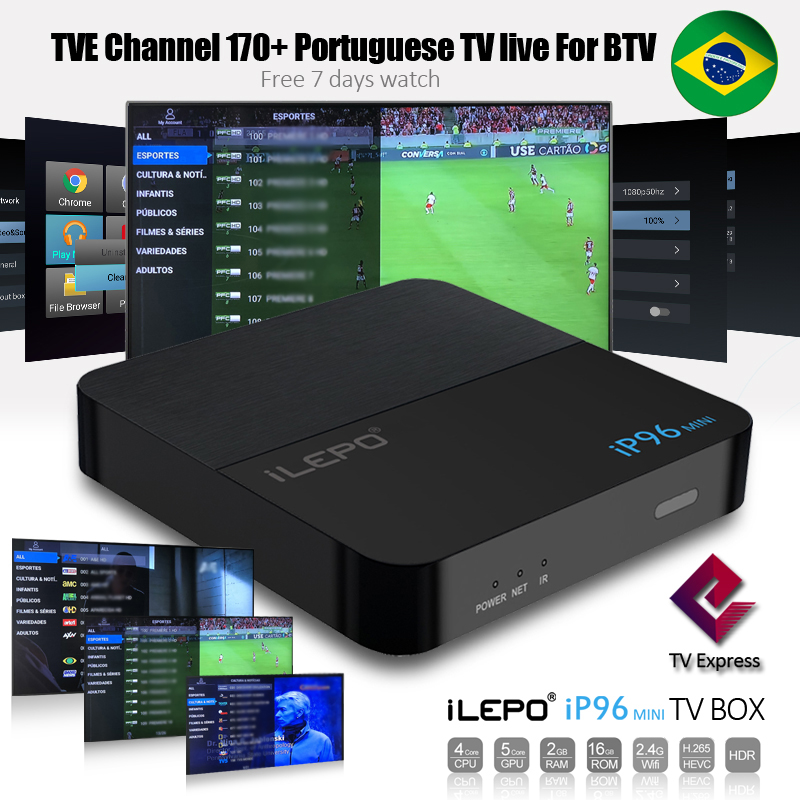 Brazilian BTV Portuguese Channels IPTV Live & 27000+ VOD With IP96 Mini  Android 7 1 Smart TV BOX Amlogic S905W 2GB 16GB