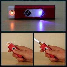 Бесплатная Доставка Тонкий Сигареты Аккумуляторная Ветрозащитный Электроподжиг/Металл Охрана окружающей среды USB Зарядки Легче
