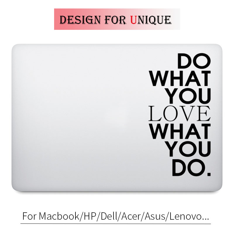 Do What You Love Quote Decal Laptop Sticker for font b Apple b font font b