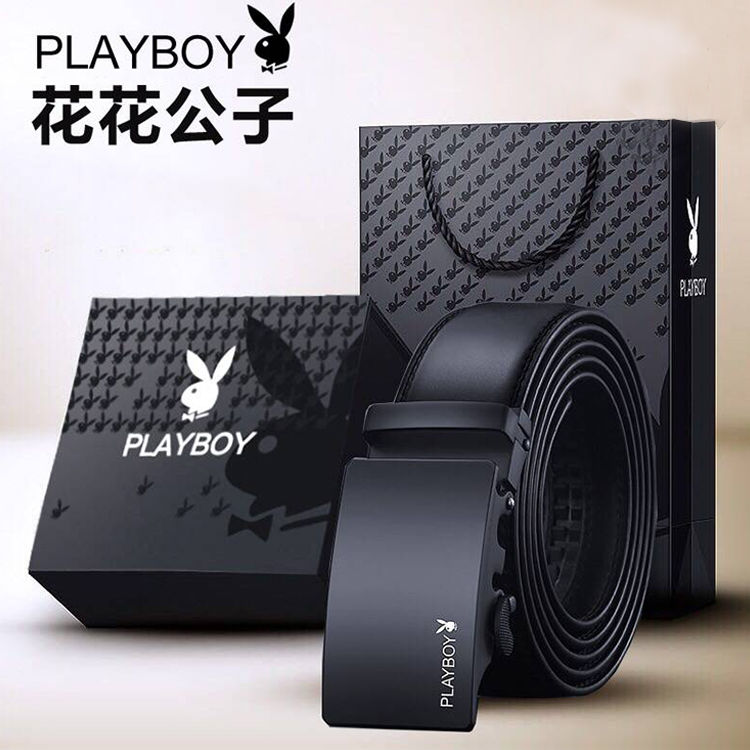 PLAYBOY American Brand Authentic Belt Men Automatically Buckle Belt For Young Business Belt