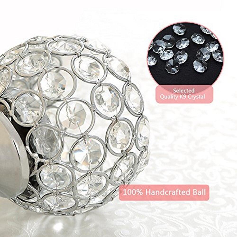 Castiçais de cristal tealight castiçais de metal
