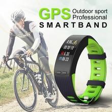 ספורט חוצות צמיד חכם אנדרואיד IOS עם קצב הלב כושר פעילות גופנית צג רכיבה על אופניים GPS שעונים נשים זכר