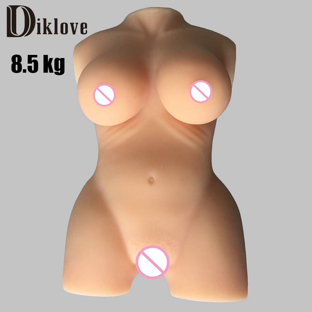 8kg New 100% Full silicone artificial silicone big sex doll with realistic vigina pussy sex toys for man 8kg full silicone callipyge double cave sexy body