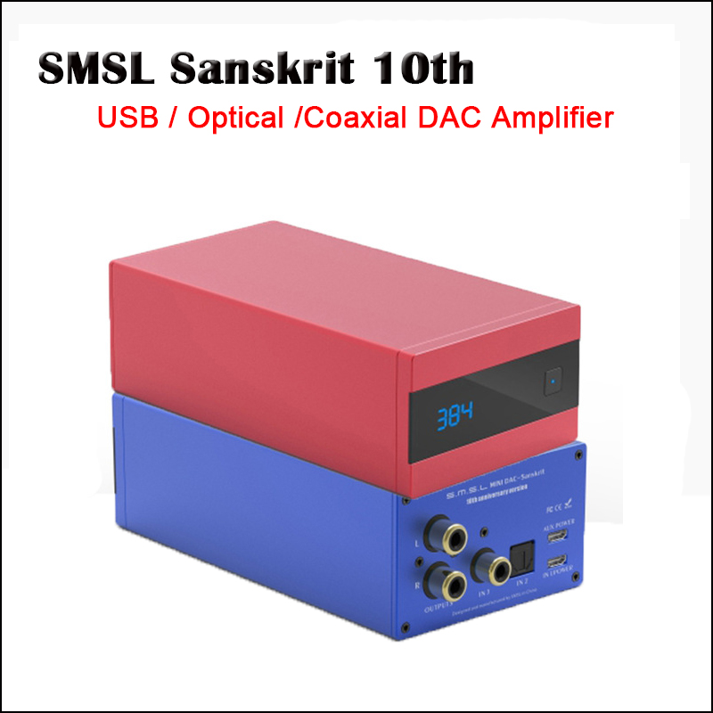 SMSL Sanskrit 10th sk10 USB Optical Digital DAC Amplifier Decoder USB DAC AK4490 Hifi Amplifier Audio DAC USB Decodificador 6th new version smsl latest 6th sanskrit 32bit 192khz coaxial spdif optical usb dac hifi audio amplifier decoder with power adapter