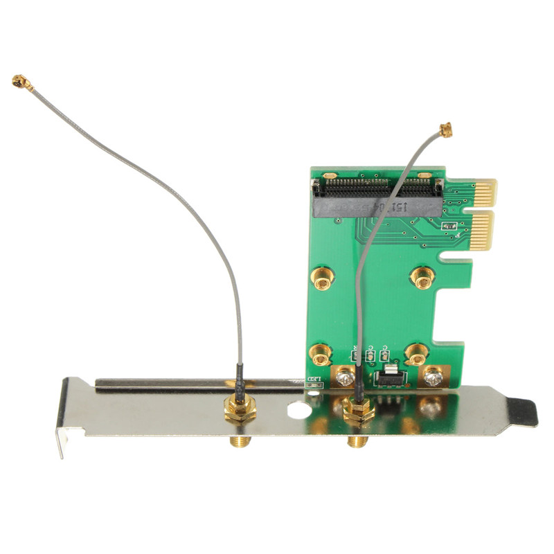 Best For Promotion 1PC 802.11n Wireless WIFI Mini PCI-E Card To PCI-E Wlan Adapter Expansion Card New