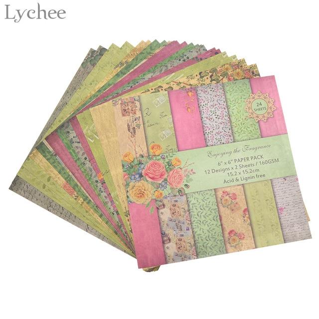 Paper Pads For Card Making Part - 49: Lychee 24 Sheets Scrapbook Paper Craft DIY Origami Art Card Making Photo  Album Scrapbooking Paper Pad