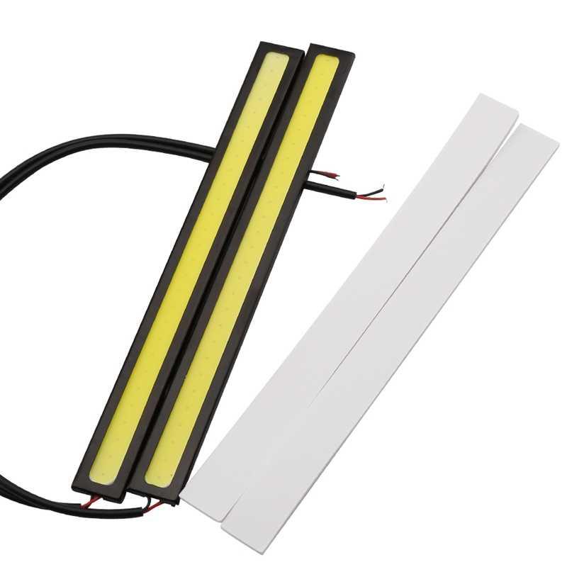 """רכב סטיילינג 1 יחידות עדכון Ultra בהיר LED יום ריצה אורות DC 12 v 17 ס""""מ עמיד למים אוטומטי רכב DRL COB נהיגה ערפל מנורה"""