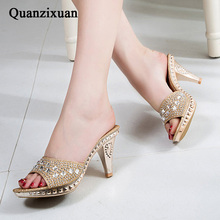 QUANZIXUAN Spike Heels Women Pumps Sexy High Heels Women Crystal Party Women Shoes