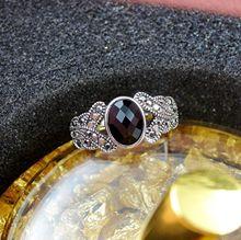 Ladies Oval Black Marcasite White Gold Filled Royalty Women Wedding Ring Bridal Wedding Engagement Ring