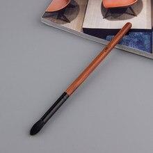 Anmor 1 pçs escova de sombra de alta qualidade natural cabra cabelo cônico mistura escova pincel profissional pincéis maquiagem dos olhos cor preta