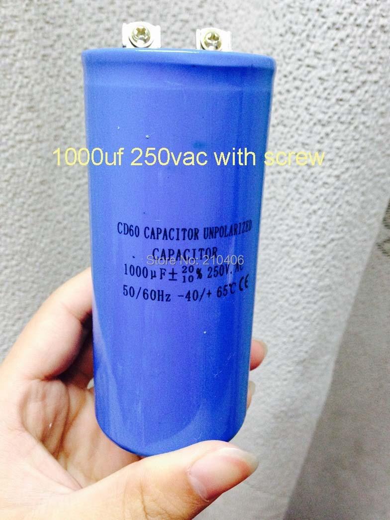 CD60 1000uf Condenser AC Motor Starting Capacitor CD60 250V with screw