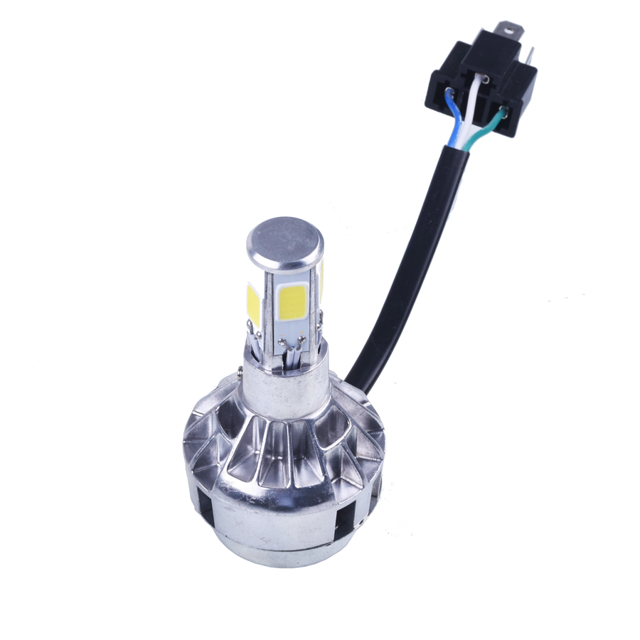 LED motorcycle headlight H4 motorbike light BA20D flasher motos fog lights for ktm exc cafe racer motorcycle accessories