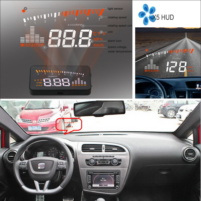ФОТО Car Information Projector Screen For SEAT Leon 1M 1P 5F - Safe Driving Refkecting Windshield HUD Head Up Display