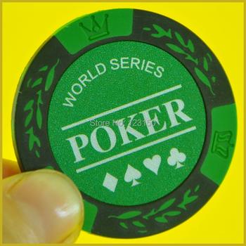 PN-8001B World Poker bez wartości nominalnej 50 sztuk partia glina 14g każda darmowa wysyłka tanie i dobre opinie Gliny