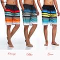 Milankerr Homens Curtos Casual Board Shorts Verão Calções de Praia Desgaste Swimwear Listrado Praia Trunks Quick-secagem rápida Calções
