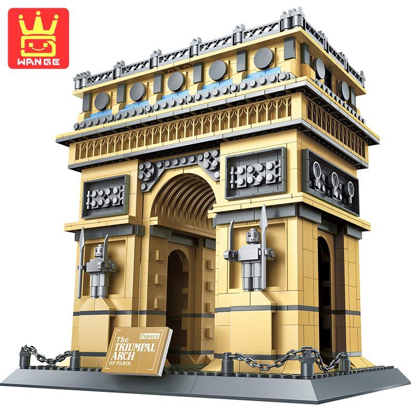 WANGE PARIS RRIUMPHAL ARCH Figure Teaching Building Blocks DIY Model 1401Pcs Bricks Educational Toy For Children