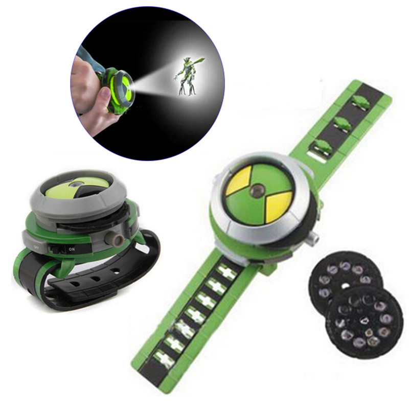 Hot Selling ben 10 omnitrix watch Style Kids Projector Watch Japan Genuine Ben 10 Watch Toy Ben10 Projector Medium Support Drops lis hot selling ben 10 style japan projector watch ban dai genuine toys for kids children slide show watchband