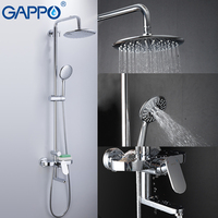 GAPPO Shower Faucet brass and ABS shower set bathroom rainfall shower mixer wall mounted torneira do anheiro faucet showers