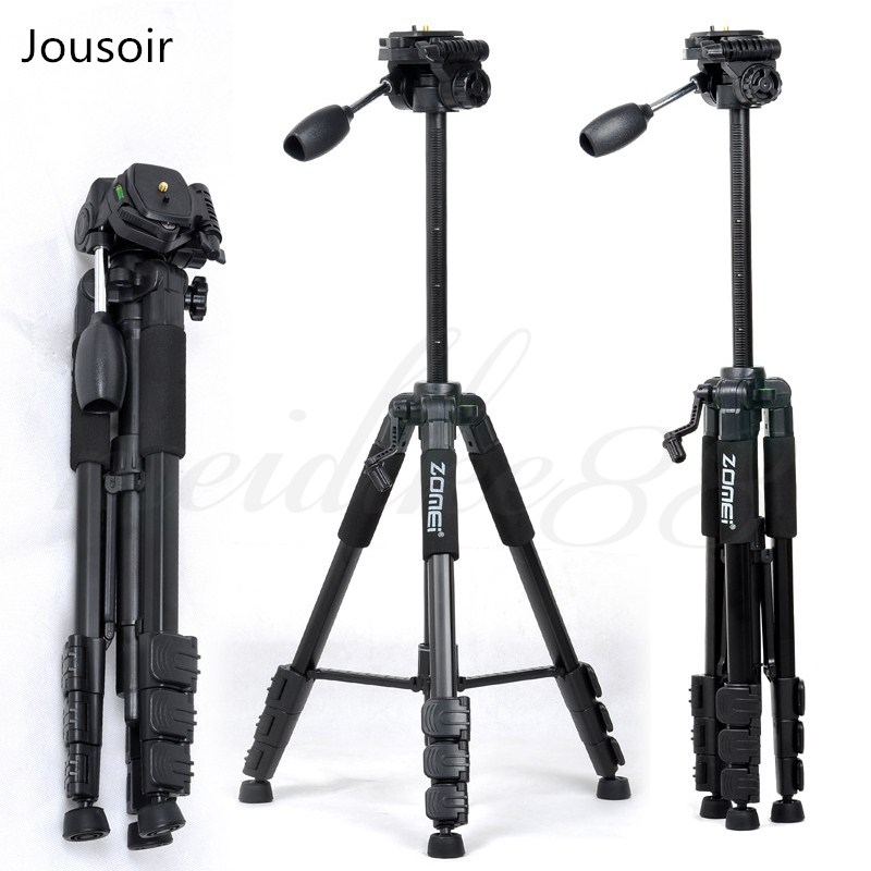 Zomei Tripod Z666 Professional Portable Travel Aluminium Camera Tripod Accessories Stand with Pan Head for camera CD50
