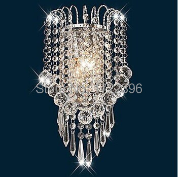 ФОТО Artistic Stainless Steel Plating Modern Led Crystal Wall Light Lamp For Home Wall Sconce Free Shipping,AC,E14,Bulb Included
