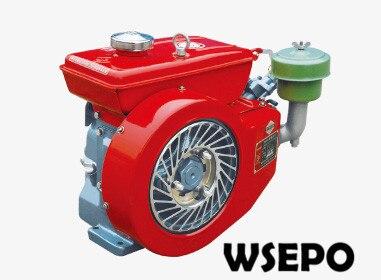 Direkt Ab Werk Liefern! WSE-170F 4te Horizontale Einzylinder Luftgekühlten 4-takt Kleinen Dieselmotor für Generator/pumpe/boot