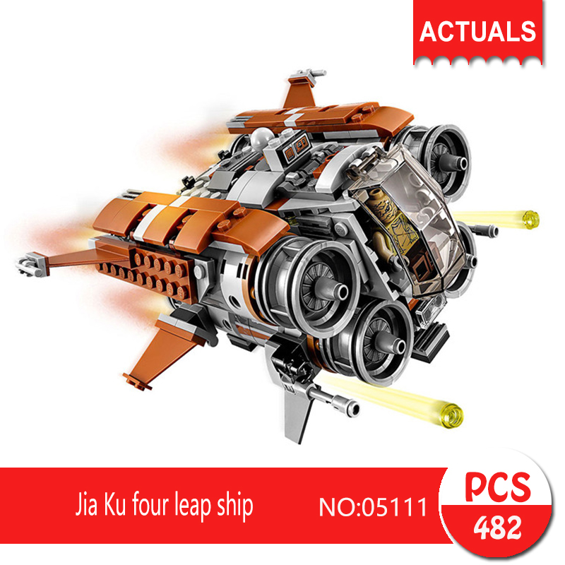 Lepin 05111 482Pcs Jia Ku four leap ship Model Building Blocks Set  Bricks Toys For Children Gift Action figures 75178 jia le toys мой веселый барабан