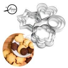 Atekuker печенье формочки для печенья инструменты звезда цветок круглый любовь Сердце Формочки для печенья овощерезка