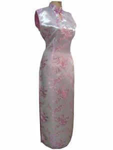 Image 4 - Vestido largo de satén con cuello Halter para mujer, Cheongsam Qipao, Mujere, Vestido tradicional chino, negro y rojo, talla de flor S, M, L, XL, XXL, XXXL, J3035