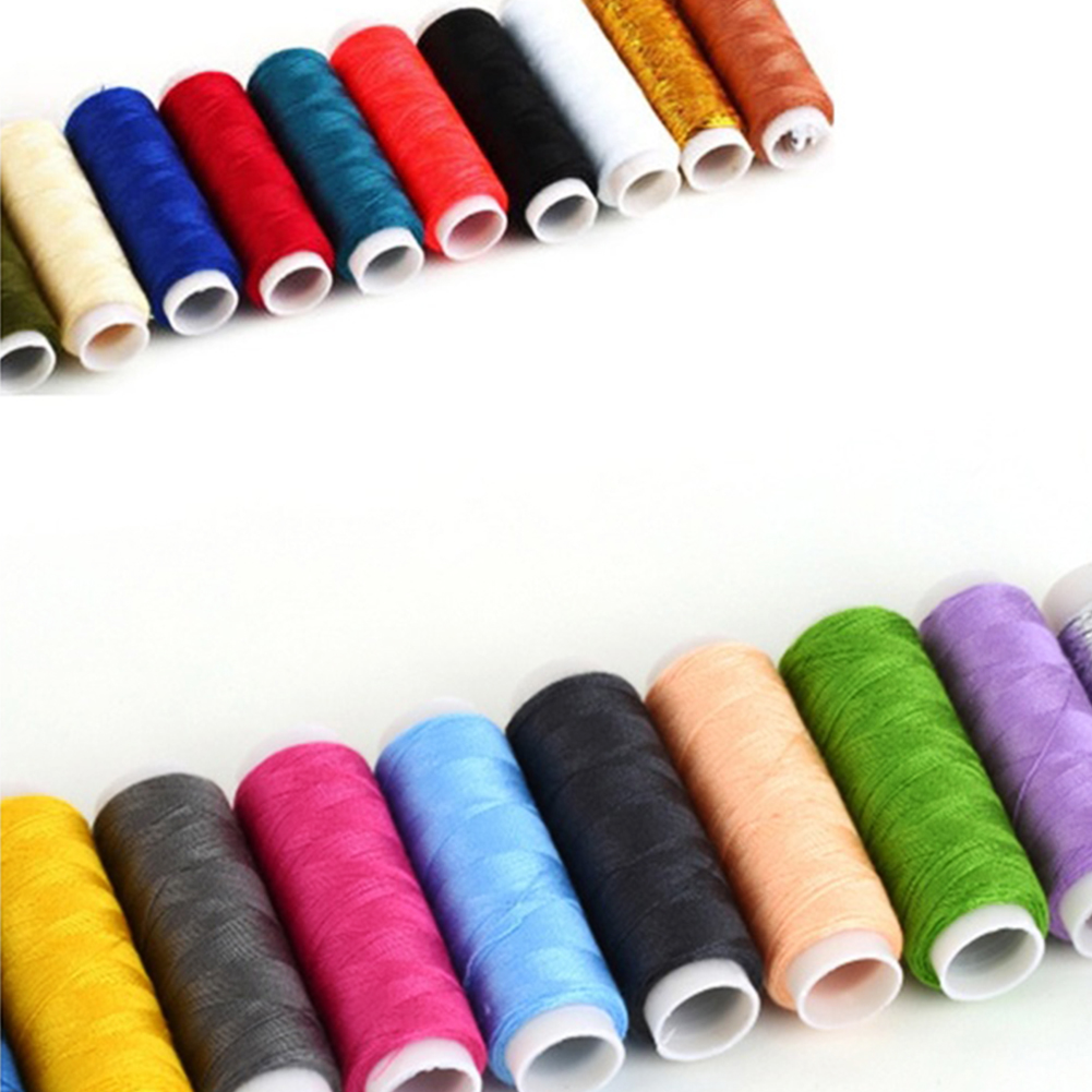 Accesorio de costura poliéster bordado máquina de coser hilo Línea 2 ...