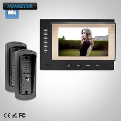 """HOMSECUR 7 """"Проводной Видеодомофон безопасности + Двухсторонний Интерком : TC041 + TM701R-B"""