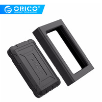 "ORICO 2.5"" Type C Rugged Waterproof & Shockproof 5Gbps 10Gbps External Hard Drive Enclosure for 2.5 inch 9.5mm& 7mm SATA HDD SSD