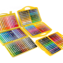 M&G Stationery set colorful Bar 24 color 36 48 rotary crayon washable water soluble non-toxic children
