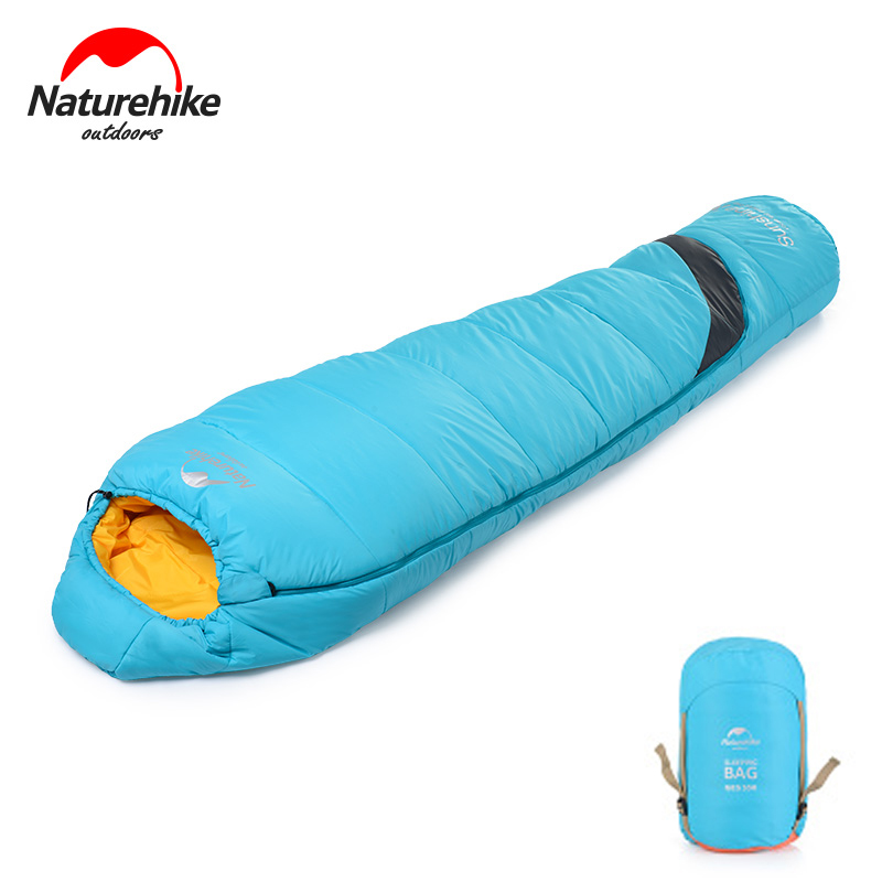Naturehike Ultralight Mummy Sleeping Bag With Portable Compression Sack Perfect For Winter Autumn Backpacking Hiking Camping outdoor camping tent backpacking mummy sleeping bag for winter