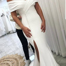 Amazing Split Mermaid Wedding Dresses Long 2020 Elegant Off Shoulder African Bridal Gowns Off Shoulder Nigeria Vestido de noiva