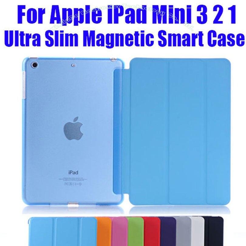 1 шт., новейший кожаный чехол для Apple iPad Mini 3, 2, 1, модный умный чехол + прозрачная задняя крышка для ПК NO: IM302