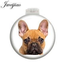 JWEIJIAO French bulldog jack Russell boxer black lab white poodle Staffie dalmation pug Pet Dogs Pocket Mirror With Massage Comb