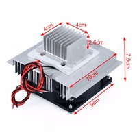 DC 12V Thermoelectric Peltier Refrigeration Cooling System Semiconductor Air Conditioner Cooler DIY Kit 1