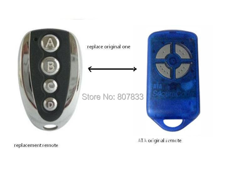 Free shipping ATA opener, securalcode replacement remote ,garage door remote control, transmitter receiver remote футболка классическая printio неизвестный солдат