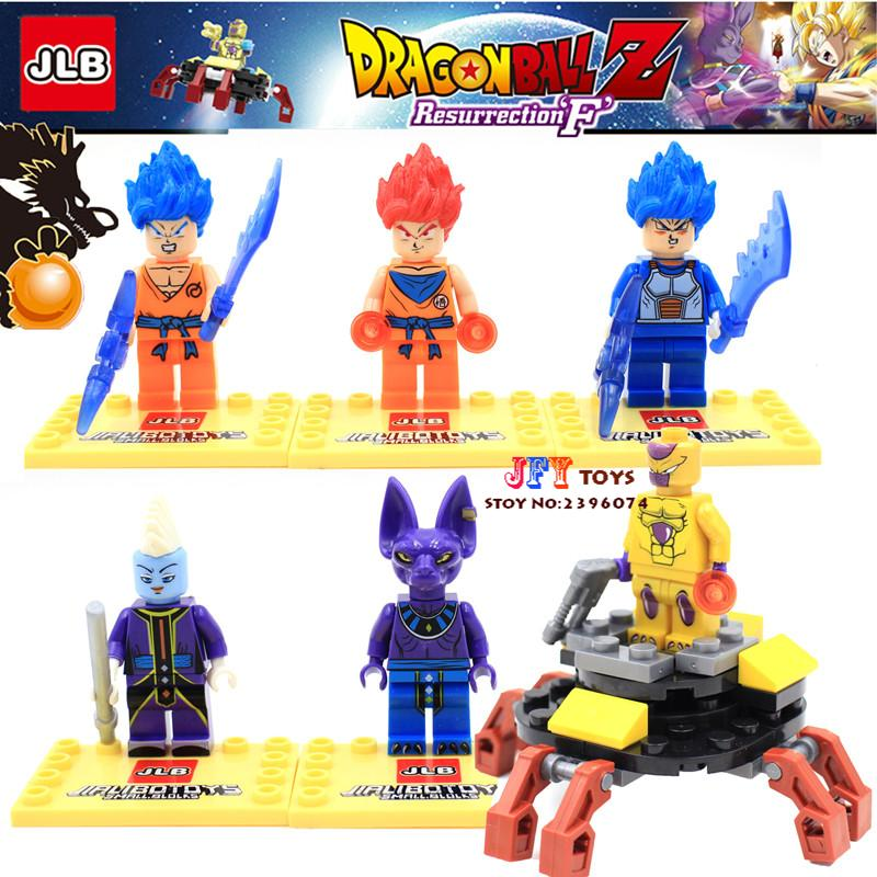 6pcs Marvel Super Hero Dragon Ball Z Son Goku Building Blocks Bricks Kid Baby model Gift toys for children juguetes jlb 33901 33906 dragon ball z son goku vegeta master roshi minifigures toys building blocks sets model bricks figures legoelieds