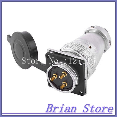 AC 400V 25A 3 Pin Square Electric Deck Aviation Connector Adapter Plug