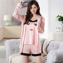 Gown Silk Satin Nightgown 3 Pairs Sets Women  MT