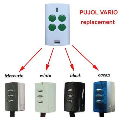PUJOL VARIO OCEAN, WHITE, BLACK, MERCURIO compatible garege door remote control falmec mercurio parete 90 ix 600