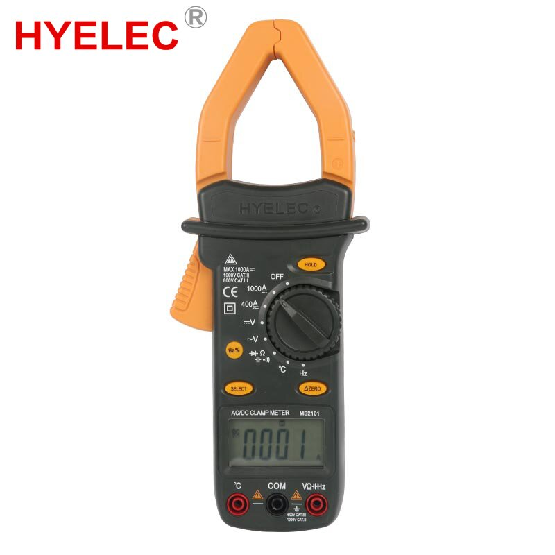 MASTECH MS2101 AC DC 1000A Digital Clamp Meter DMM Hz/C clamp meter measured capacitance frequency temperature mastech my63 digital multimeter dmm w capacitance frequency