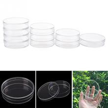 10 шт. 55 мм одноразовые пластиковые чашки Петри доступные для клеток чистые стерильные химические инструменты обучающий инструмент Прямая поставка