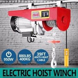 Nova 880lbs Mini Talha Elétrica Guindaste Guincho Controle Remoto Da Garagem Sobrecarga Auto Elevador