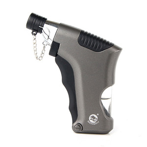 Image 1 - Torch Turbo Lighter Spray Gun Jet Butane Lighter Gas Cigarette 1300 C Fire Windproof Lighter Gadgets For Man