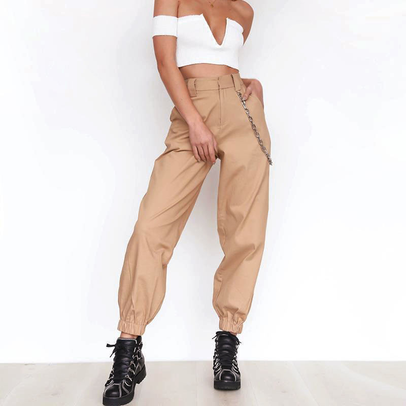 Women Harlan Long Trousers 2017 Spring And Autumn Casual Pants Casual Leisure Femme WITHOUT Chain Female Regular WS4279Y
