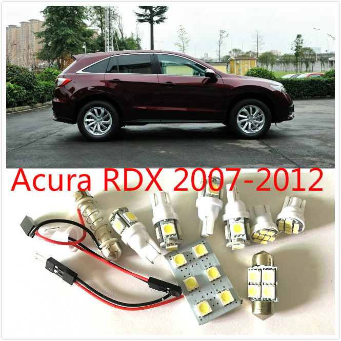 8PCS White LED interior package kit For RDX 2007-2012 Map Dome Trunk Cargo Courtesy License Plate Tag Lights high quality